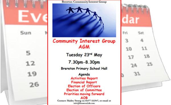 Brereton Community Interest Group AGM 2017
