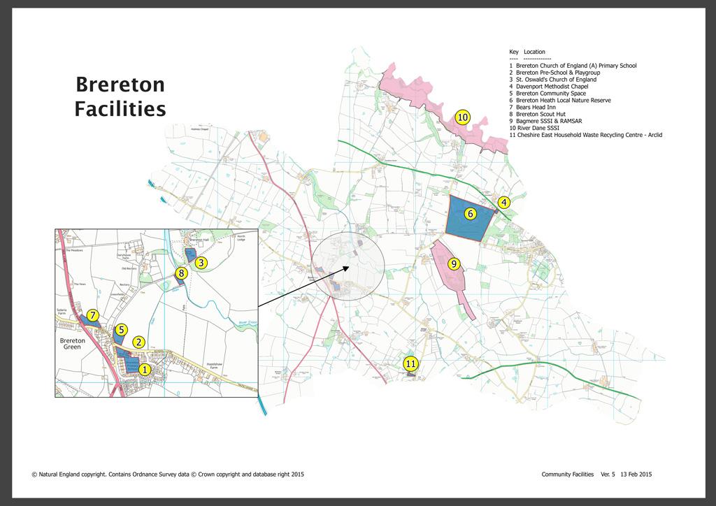 Brereton Facilities Map