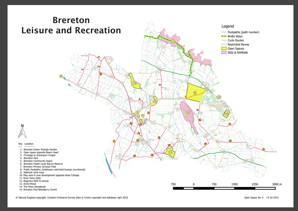 Brereton Leisure and Recreation map
