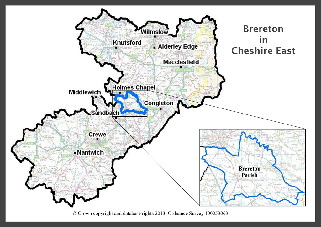 Brereton within Cheshire East Map